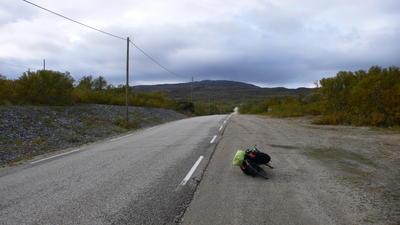 Langs de wegen van de Finnmark.